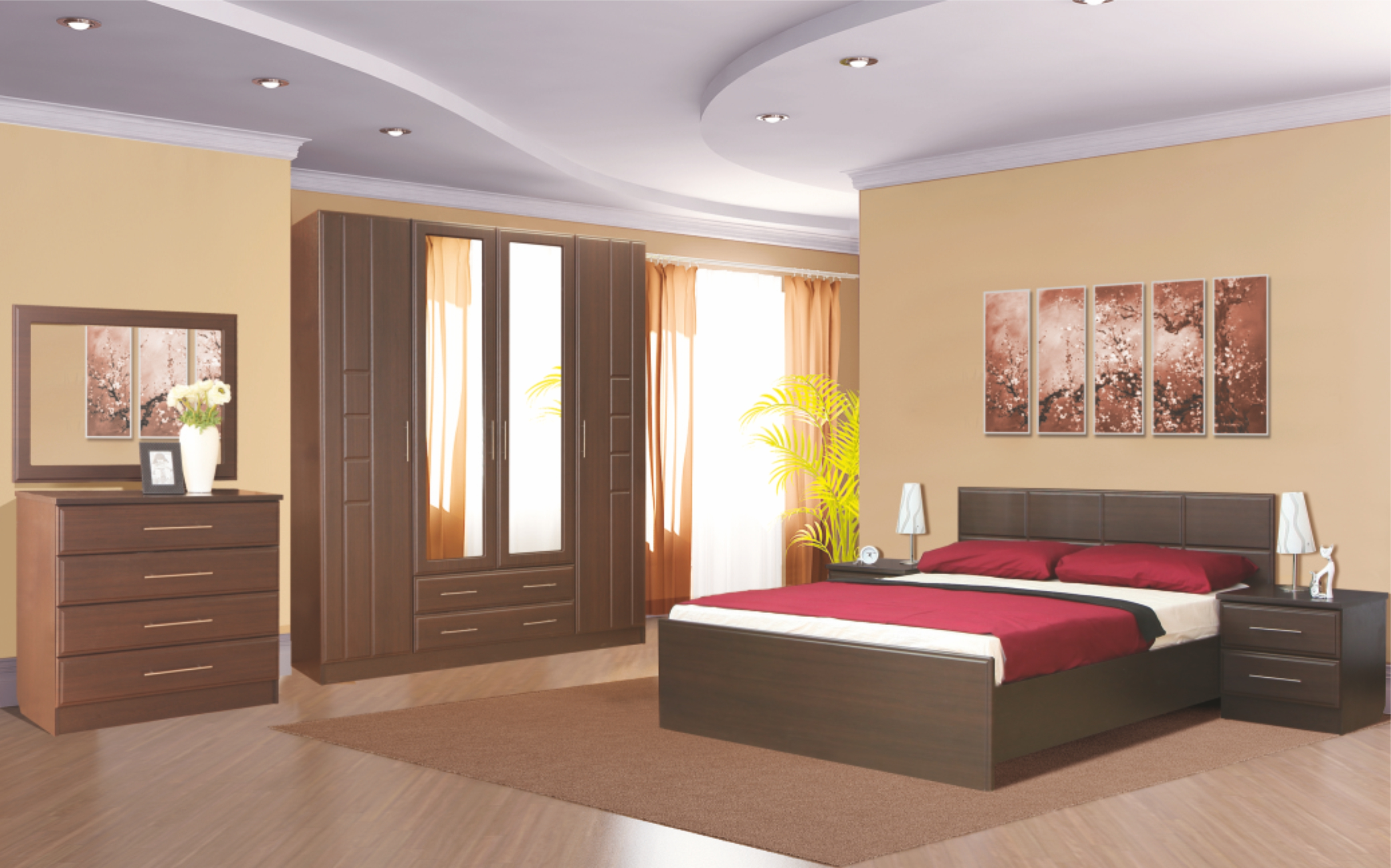 """Спальня """"Палермо"""" (Венге/Венге дуглас) дешево в Новосибирске — интернет-магазин мебели"""
